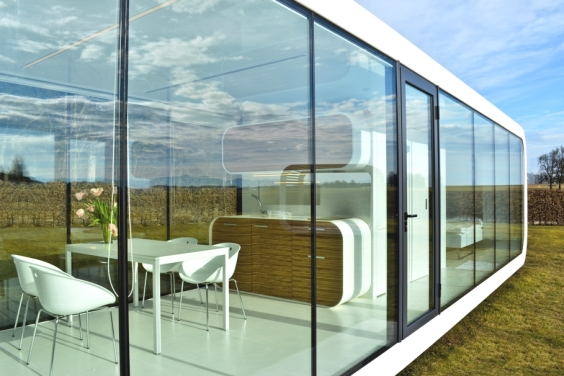 Glass Details Elegant Coodo Modular Units Transparent Interior