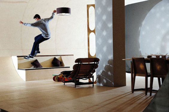Cool-Skate-Areas-Inside-The-House-Beside-Dining-Room