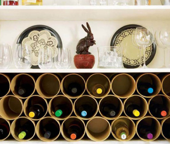 smart-interior-ideas-with-DIY-Mailing-Tubes-Wine-Rack