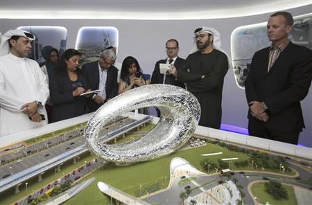 ドバイの情景模型=2015年3月4日、アラブ首長国連邦・ドバイ(AP)exd1503061210002-p1