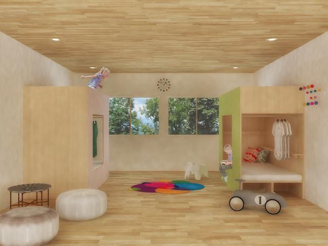 1.5畳のこども小屋_室内イメージ